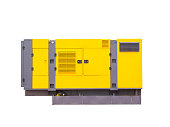 Mobile diesel generator for emergency electric power. isolated on white background. clipping path.