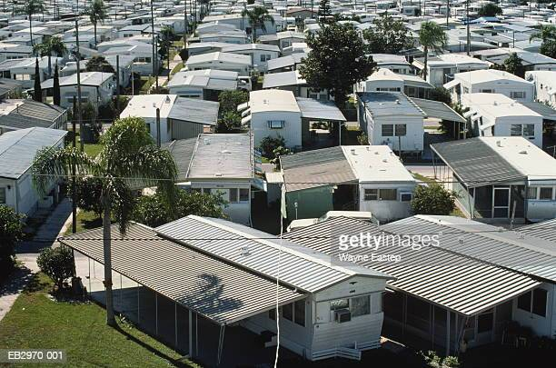 Mobile home park, Sarasota, Florida, USA, elevated view