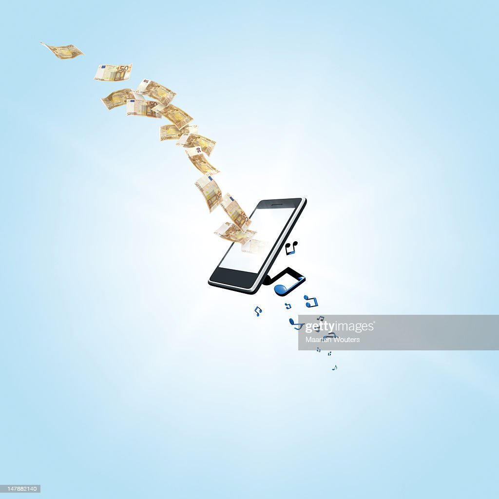 mobile life music 02 : Stock Photo