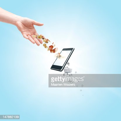 mobile life shopping 01 : Stock Photo