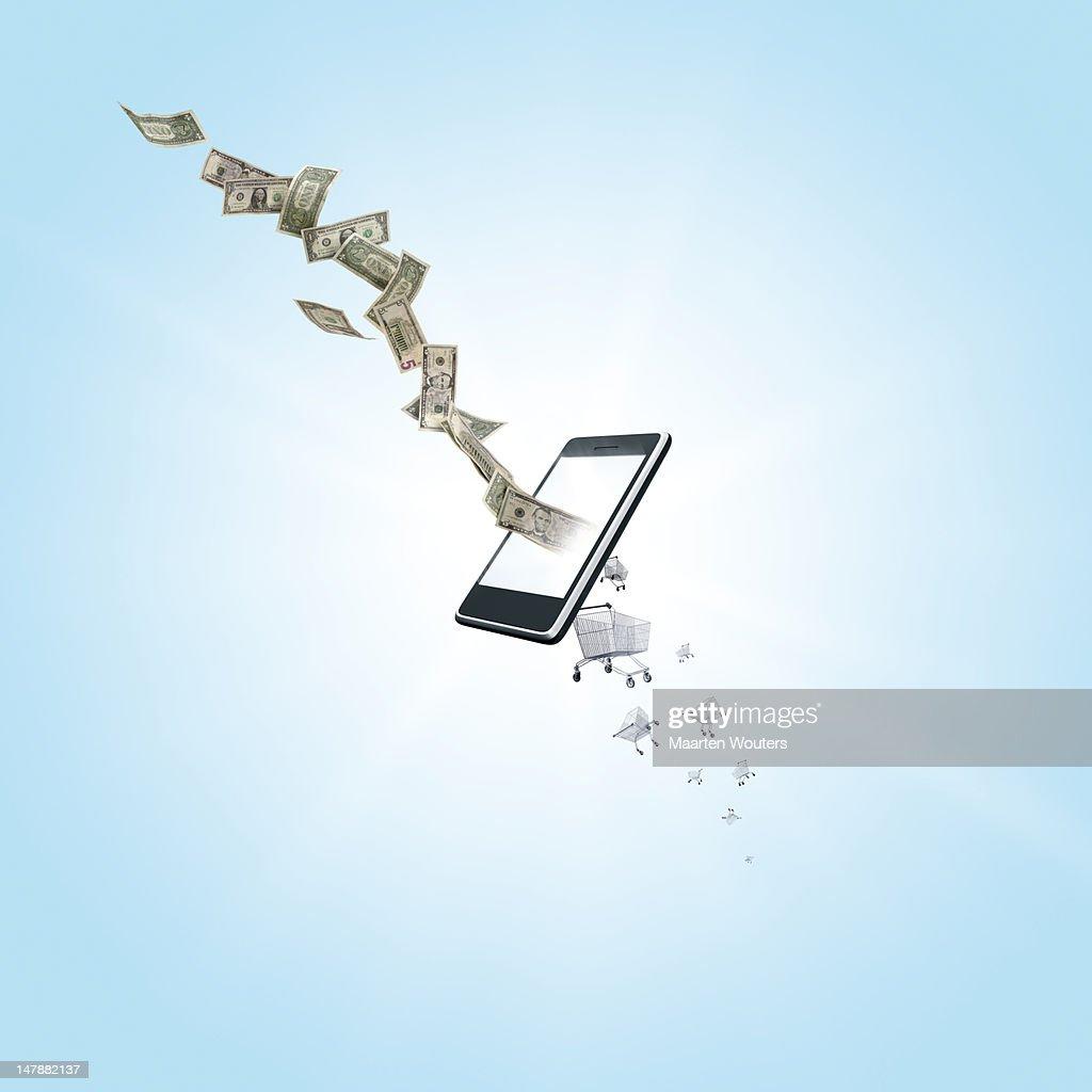 mobile life shopping 03 : Foto de stock