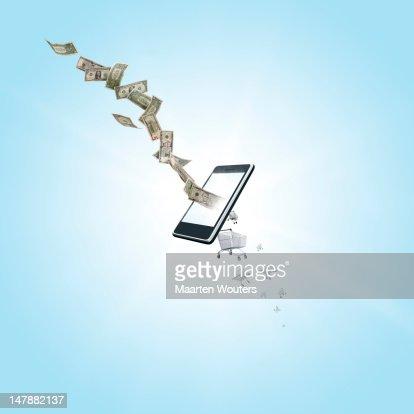 mobile life shopping 03 : Stock Photo