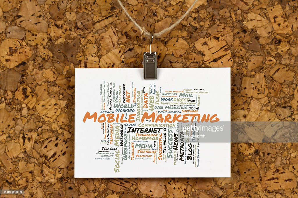 Mobile Marketing word cloud : Stock Photo