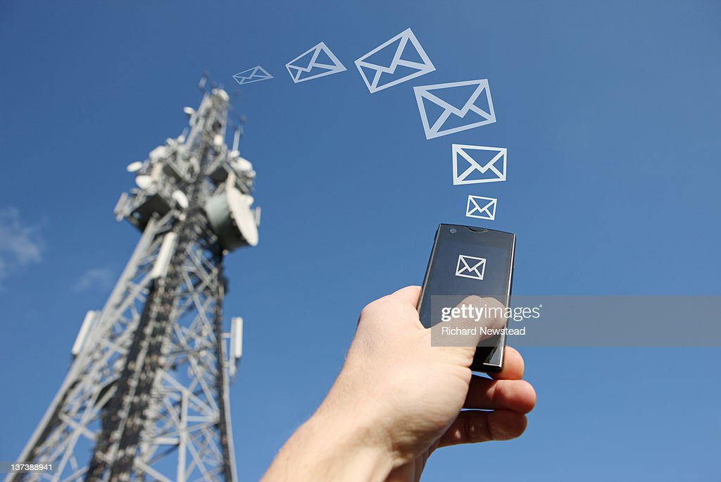 Mobile messaging : Stock Photo