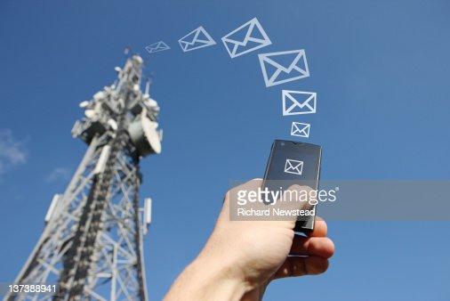 Mobile messaging : Stockfoto