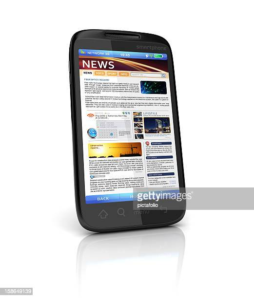 mobile news webpage