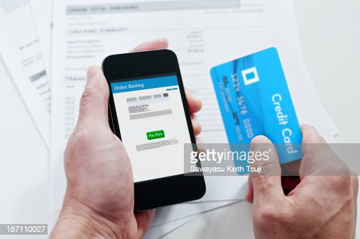 Mobile online banking : Stock Photo