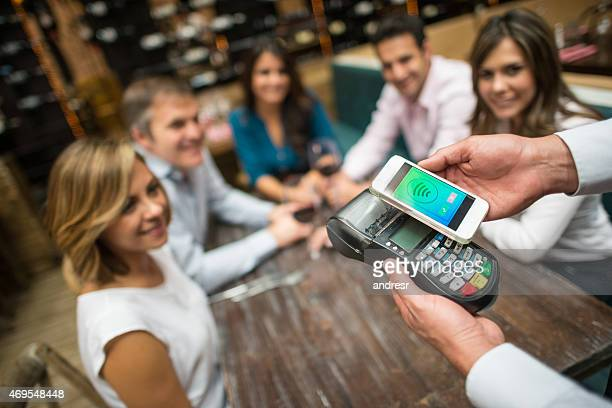 Mobile payment at a restaurant