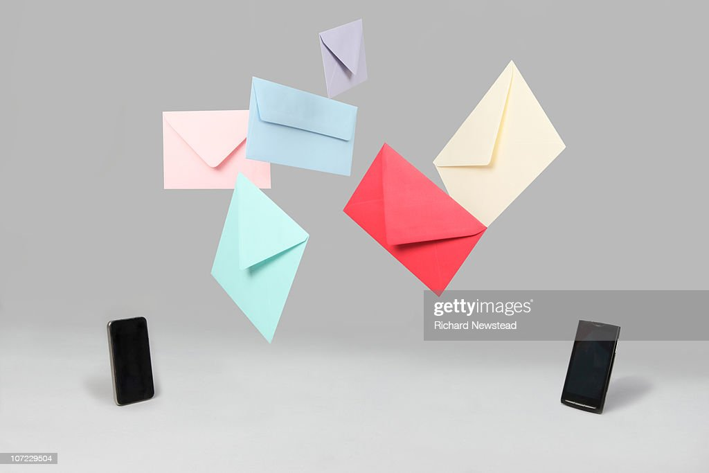 Mobile Phone Messages : Stock Photo