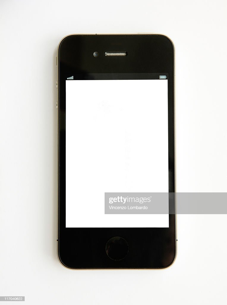 Mobile Phone on White Background : Stock Photo