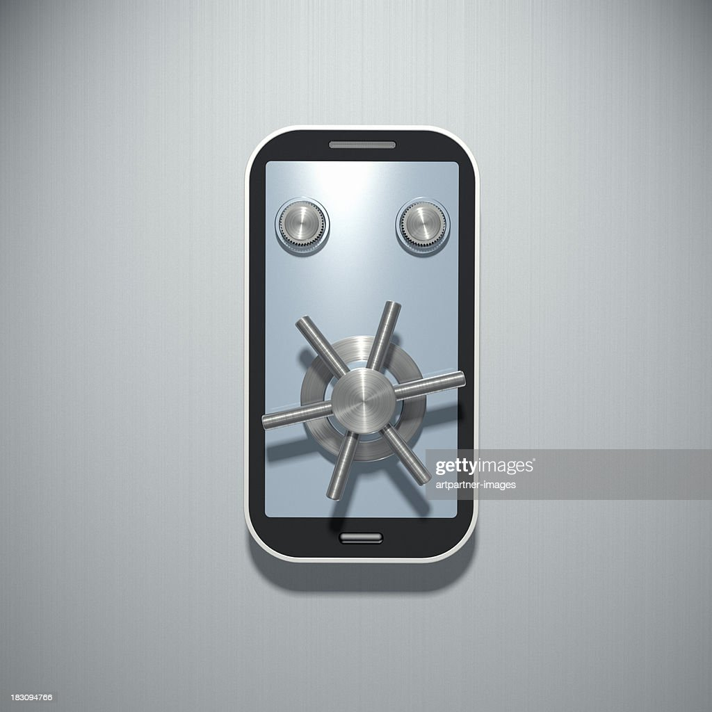 Mobile phone security concept : Stock Photo