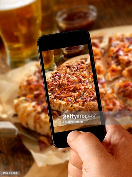 Mobile Photo of Pizza and Beers