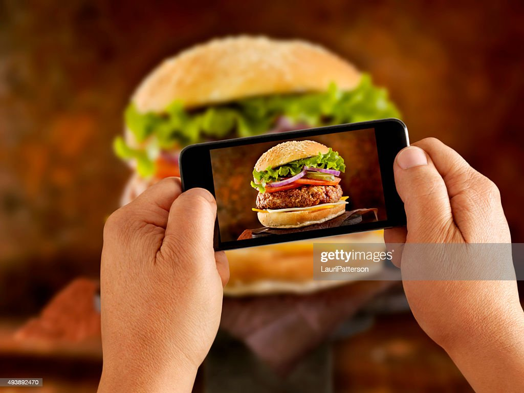 Mobile Photography of a CheeseBurger