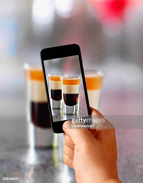 Mobile Photography of B-52 Shooters in The Bar
