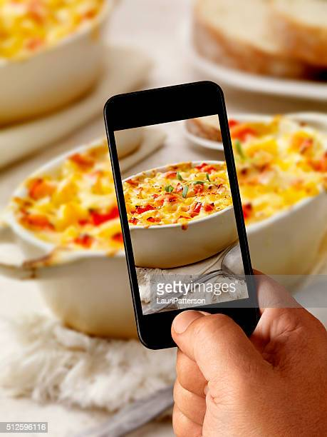Mobile Photography of Baked Lobster Macaroni and Cheese