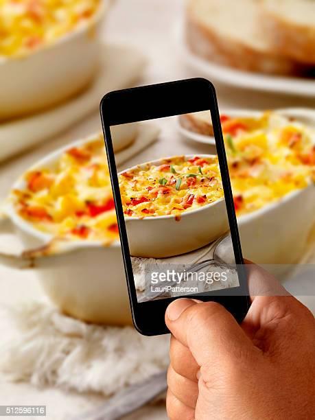 Fotografia Mobile di fagioli aragosta Maccheroni al formaggio