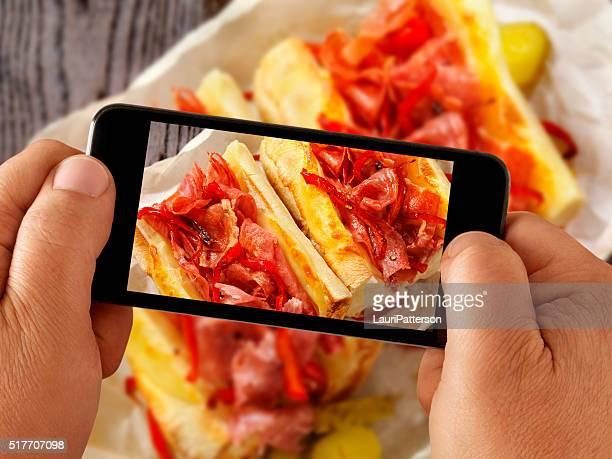 mobile photography of Italian Sandwich