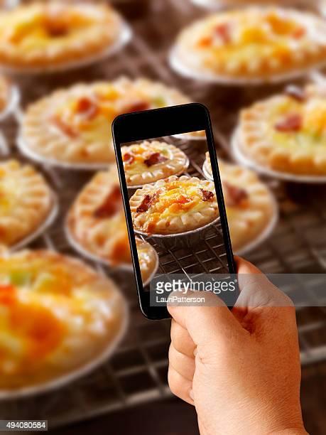 Mobile Photography of Mini Quiche