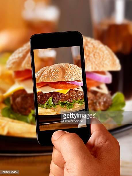 Photos sur mobiles de mon CheeseBurger de luxe