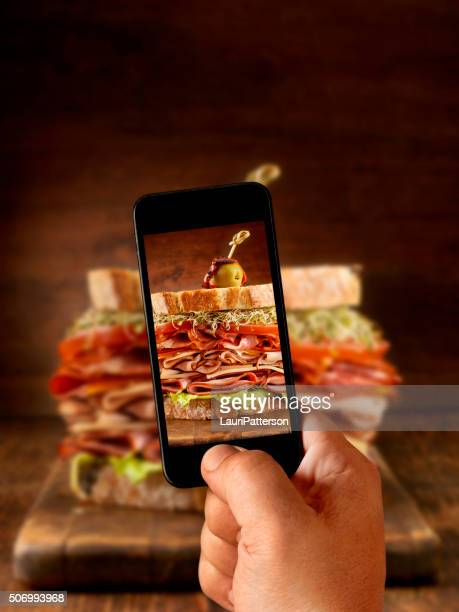 Mobile Photography of Really Big Sandwich