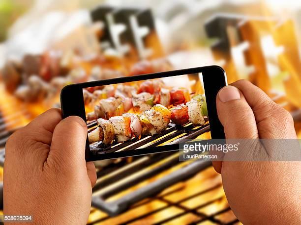 モバイル写真の野菜のカバブ