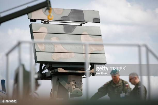 A mobile radar installation is seen at the 25th International Defence Industry Exhibition on 8 September 2017