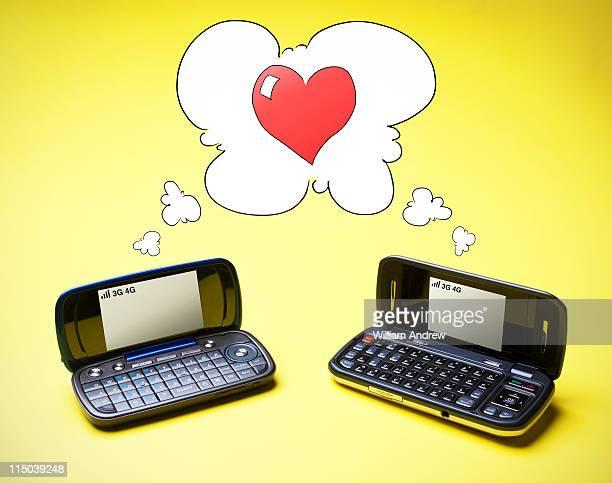 Mobile smart phones in love