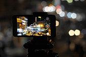 Mobile Timelapes. Mobile recording video at GPO chowk, Murree, Punjab, Pakistan