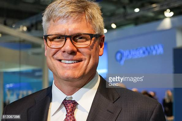 Steve Mollenkopf CEO of Qualcomm during Mobile World Congress 2016 in Barcelona Spain on February 23 2016