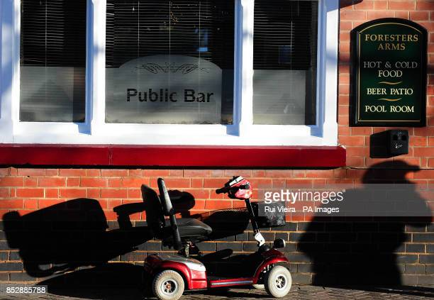 A mobility scooter outside a pub in South Derbyshire