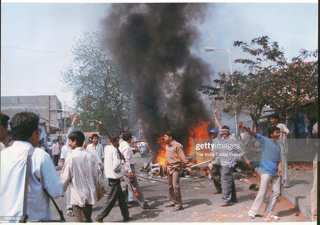 Mobs ran amok in Godhra Gujarat India