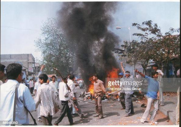 Mobs ran amok in Godhra Gujarat India