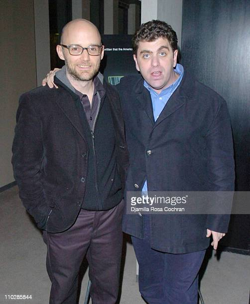 Moby and Eugene Jarecki during 'Why We Fight' New York City Screening January 17 2006 at Sony Screening Room in New York City New York United States