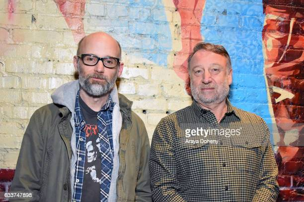 Moby and Peter Hook attend the Book Soup and Spaceland present an evening of conversation with cofounder of Joy Division and New Order Peter Hook at...