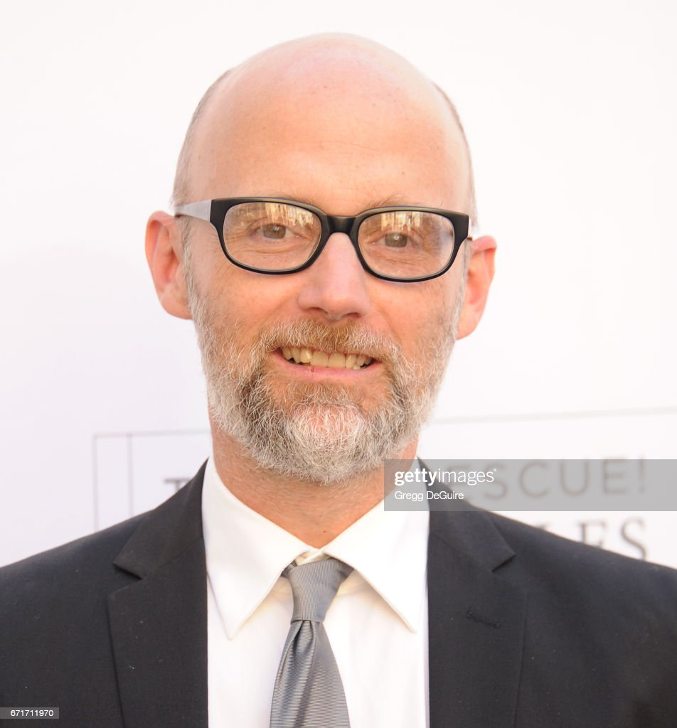 Moby arrives at the Humane Society Of The United States' Annual To The Rescue! Los Angeles Benefit at Paramount Studios on April 22, 2017 in Hollywood, California.