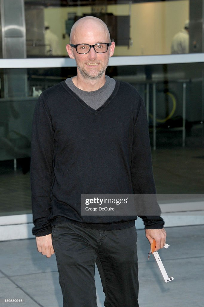 Moby arrives at the Los Angeles Premiere of 'A Good Old Fashioned Orgy' at the ArcLight Theater on August 25 2011 in Hollywood California