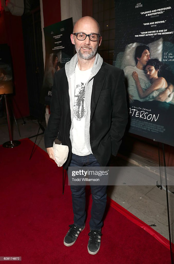 DJ Moby attends the Los Angeles special screening of 'PATERSON' at the Vista Theatre on December 6, 2016 in Los Angeles, California.