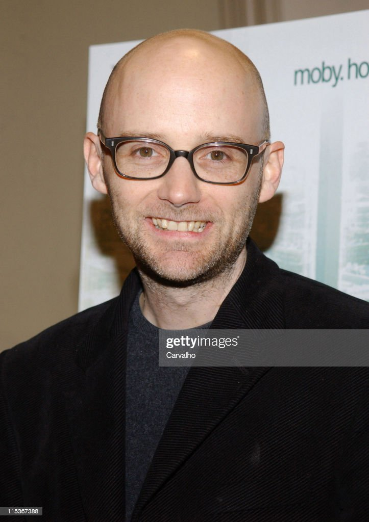"""Moby Signs His CD """"Hotel"""" and His Book """"Teany"""" at Barnes & Noble in New York"""