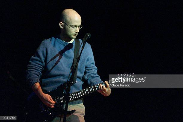 Moby on stage performing during the Tibet House Benefit Concert 2001 with artistic director Philip Glass Dana Bryant Emmylou Harris Patti Smith David...