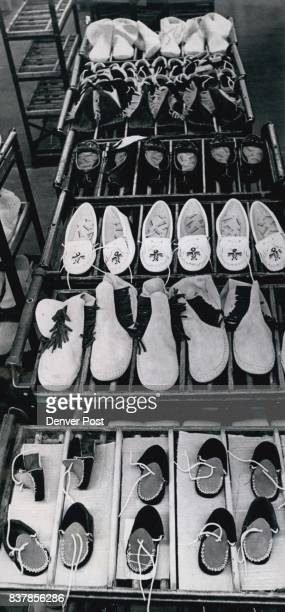 Moccasins are produced on assembly line now by skilled Indian women of the Pine Ridge Reservation in southern South Dakota Credit Denver Post