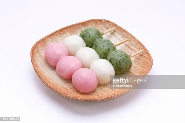 Mochi dango (mochi rice-balls on skewer)