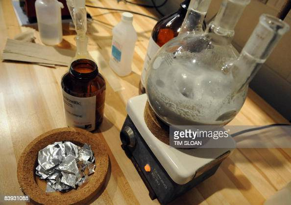 A mock 'ecstasy' lab for teaching purposes at the new National Clandestine Laboratory Training and Research Facility December 5 2008 at the DEA...