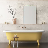 mock up bathroom in a modern style