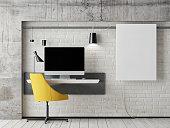 mock up work space, 3d illustration