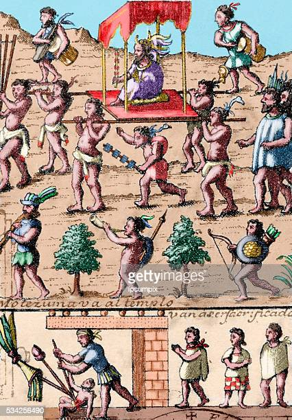 Moctezuma II Ninth tlatoani of Tenochtitlan reigning from 1502 to 1520 Moctezuma goes to the temple surrounded by virgin maidens who are to be...
