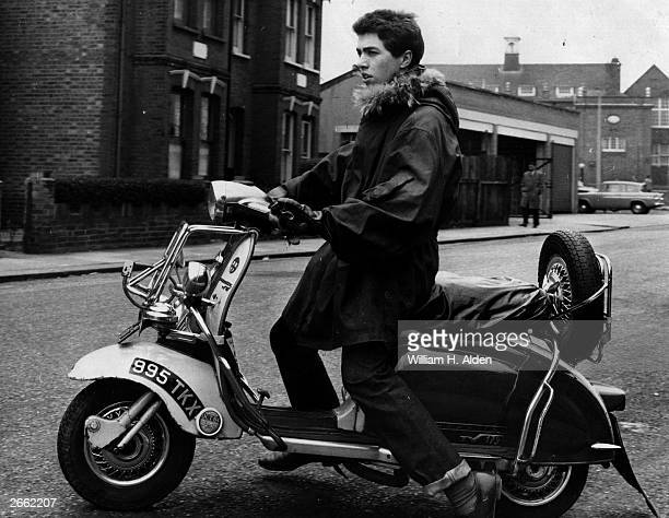 A mod on his scooter