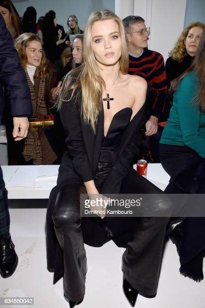 Model Abbey Lee Kershaw attends the Calvin Klein Collection Front Row during New York Fashion Week on February 10 2017 in New York City