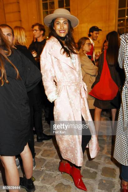 Model Abigail Lopez Cruz attends 'La Bomba' Jacquemus After Show Party Paris Fashion Week Womenswear Spring/Summer 2018 at Musee Picasso on September...