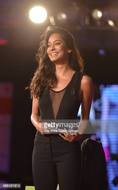 Model actor Lisa Haydon at the India Today Conclave 2015