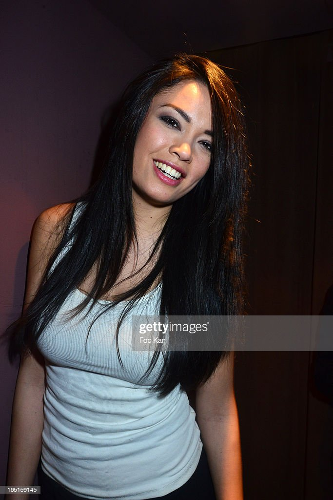 Model / actress Caroline Le Quang attends the 'OmarJeans' Launch Party At The Pavillon Champs Elysees on March 31, 2013 in Paris, France.